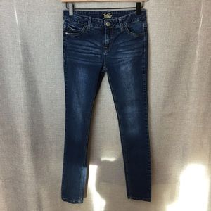 Justice Simply Low Super Skinny Blue Jeans Size 14